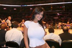 Denise Milani Lakers Pic 1