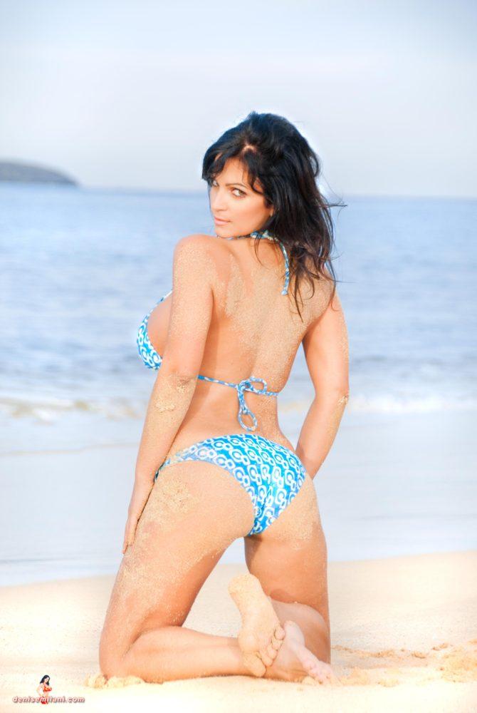 Denise Milani Big Beach Pic