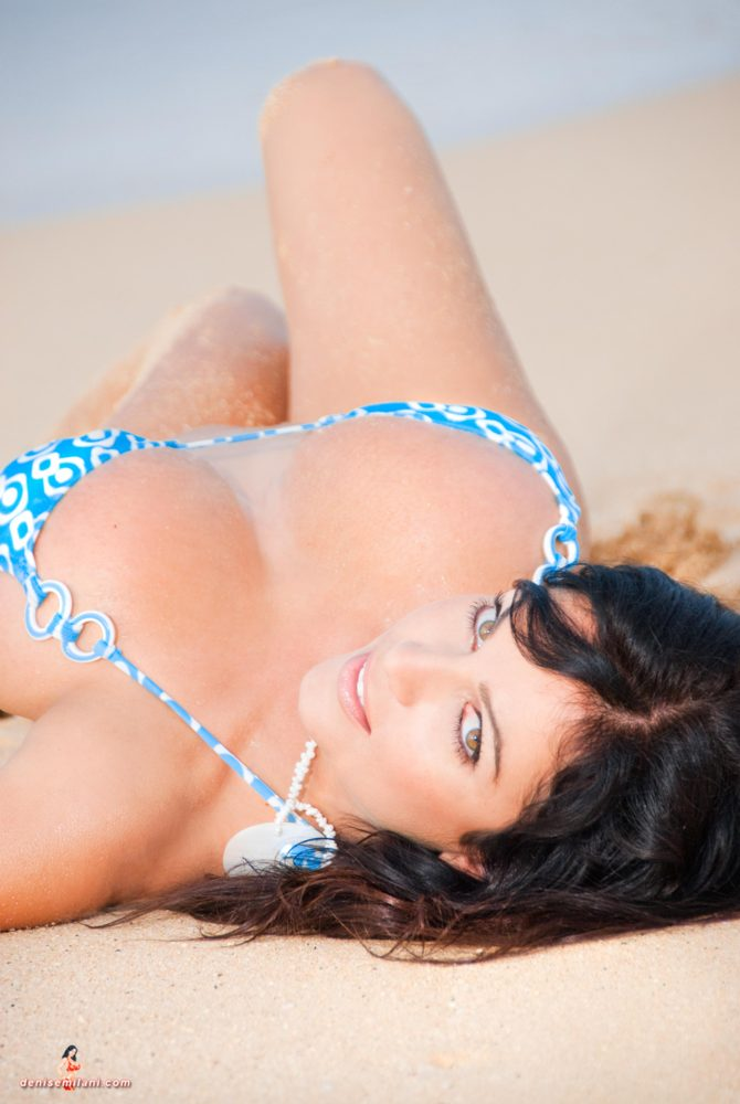 Denise Milani Big Beach Pic