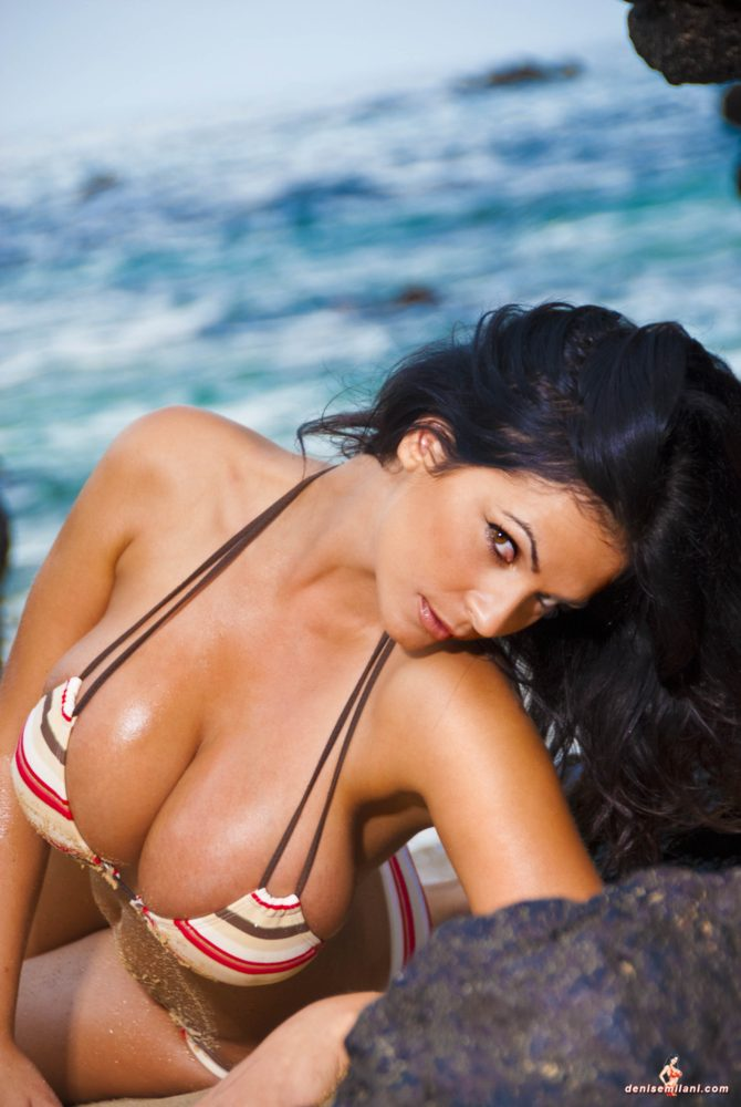 Denise Milani Big Rocks Pic