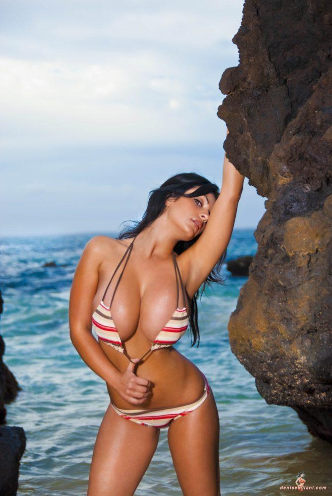 Denise Milani Big Rocks Pic