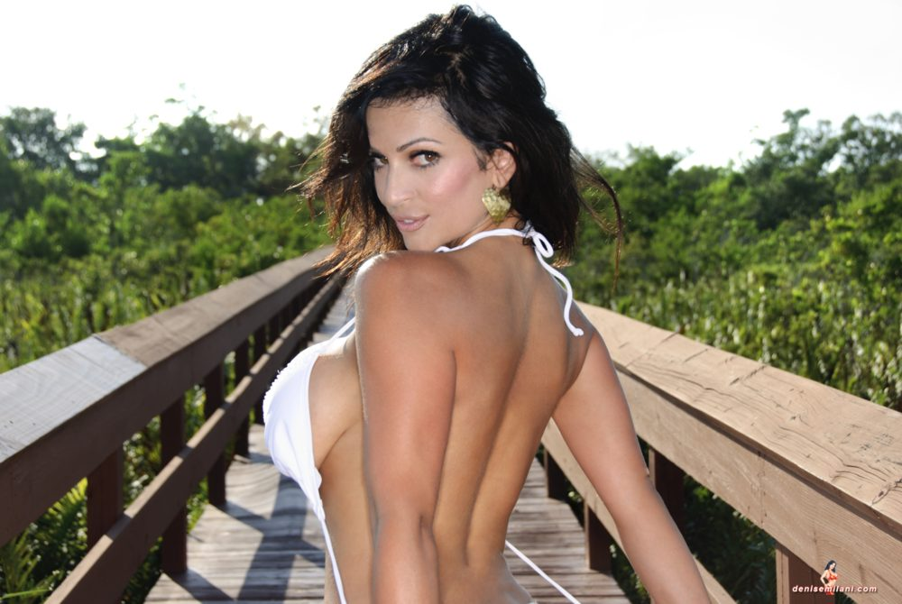 Denise Milani Boardwalk Pic