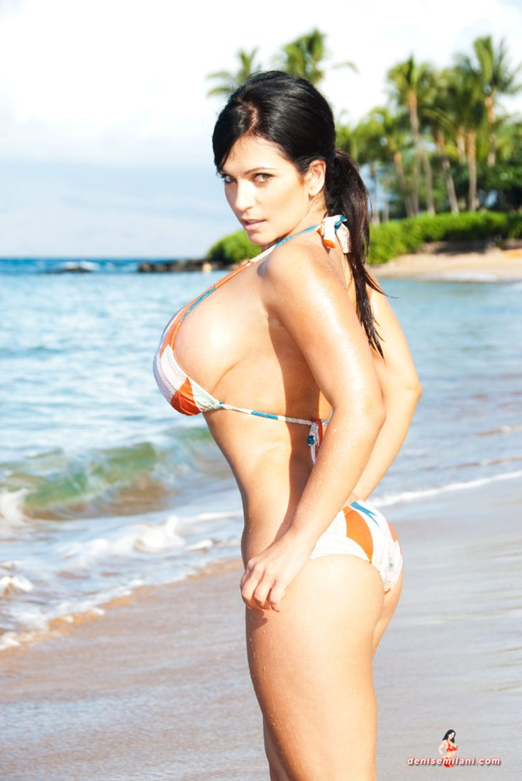 Denise Milani Czech Bikini Pic