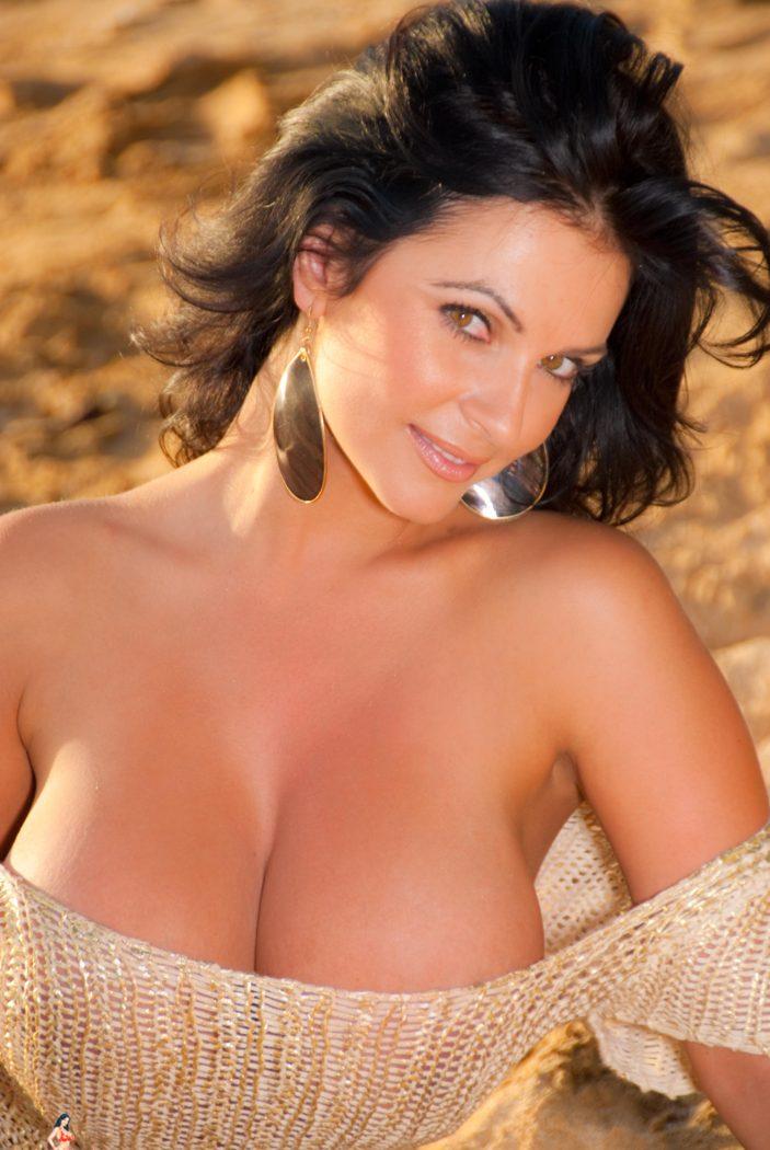 Denise Milani Golden Sun Pic