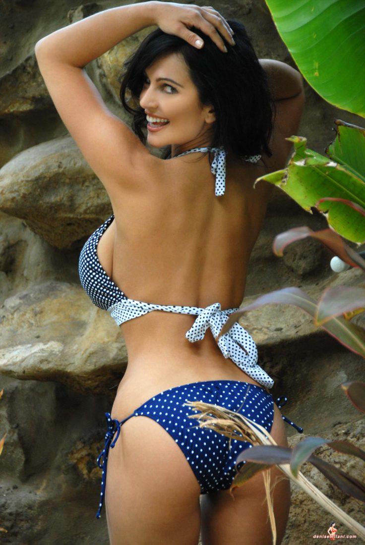Denise Milani Polkadots Pic