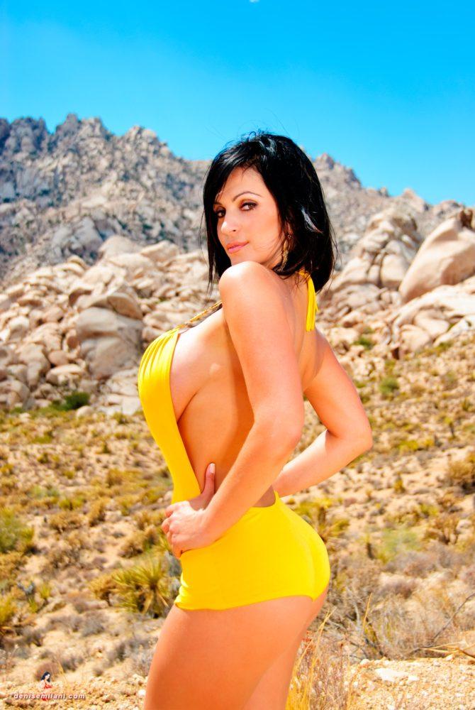 Denise Milani Rocky Desert Pic