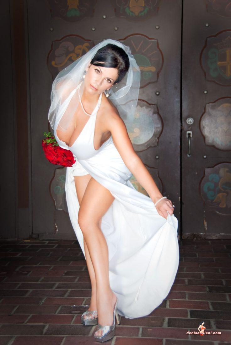 Denise Milani Runaway Bride Pic