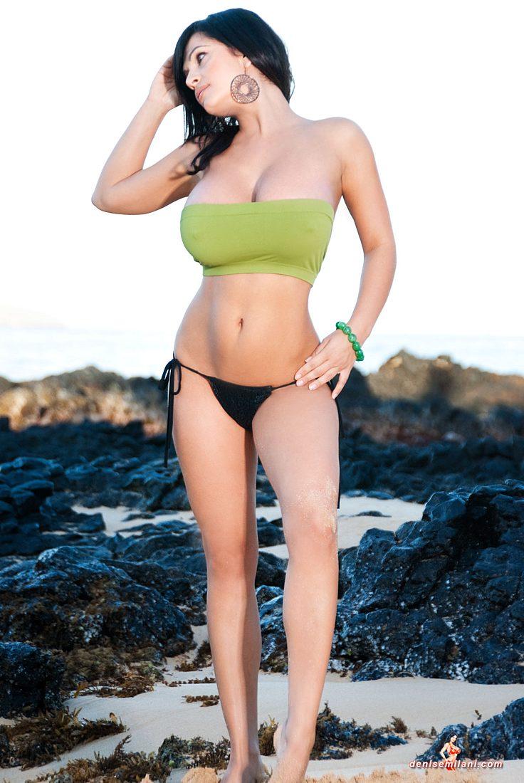 Denise Milani Sea Green Pic