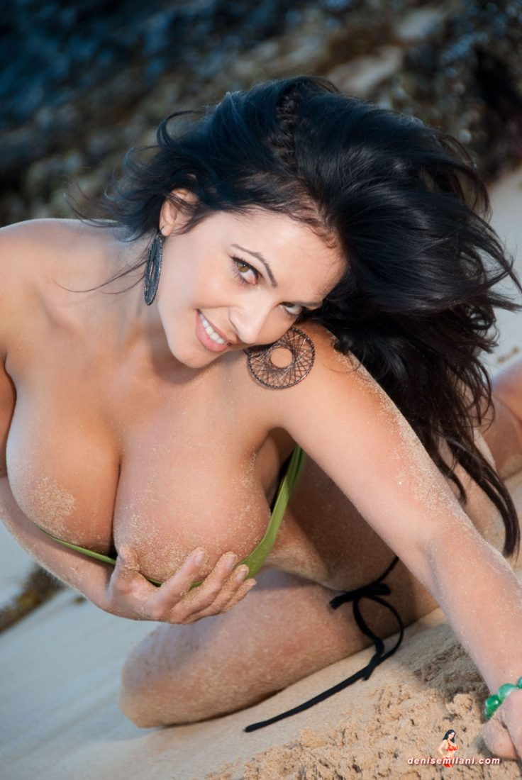 Denise Milani Sea Green Pic