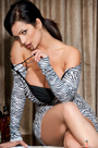 Denise Milani Zebra Dress Pic