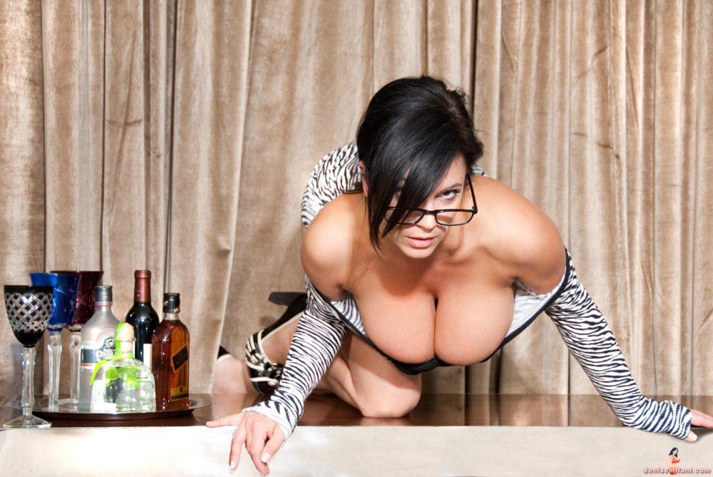 Denise Milani Zebra Dress Pic