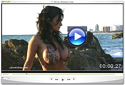 Denise Milani sunrise video Screenshot 1