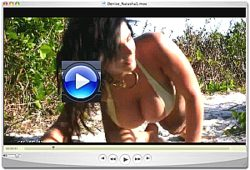 Denise Milani wild beach video Screenshot 1