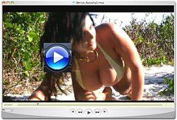 Denise Milani wild beach video Screenshot 1